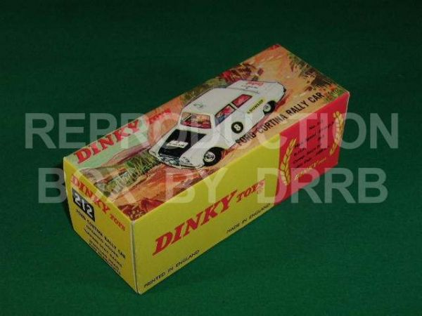 Dinky #212 Ford Cortina Rally Car - Reproduction Box